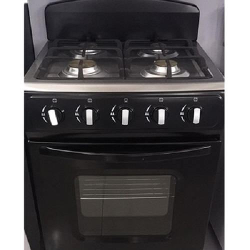 24 Home Cooking Range Black Freestanding Gas Oven with 4 Burners Kitchen Equipment