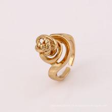 Anillo de dedo plateado oro caliente de la aleación de cobre de la venta 12023 del estilo especial de la venta caliente de las señoras