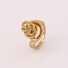12023 Hot sale special style unique ladies jewelry gold plated copper alloy finger ring