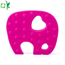 BPA Free Elephant Silicone Teether för Baby Wholesale