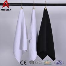 100% polyester microfiber solid color sport golf towel