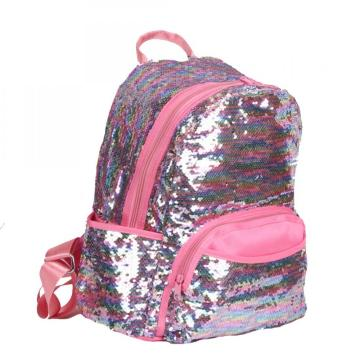PINK SEQUIN BACKPACK -0
