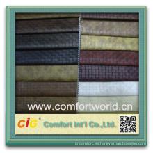 Precio barato oem ningbo cuero casero al por mayor del pvc de la materia textil casera para el sofá