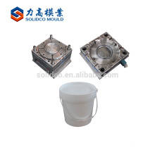 Alibaba China Supplier Round Plastic Injection Paint Bucket Moulding Plastic Bucket Stainless Mould