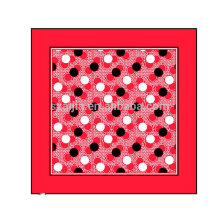 Fashion 100 cotton promotional printed square scarf