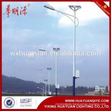 powder coated Q235 solar street light pole