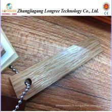 Bande de bordure en PVC à grain de bois