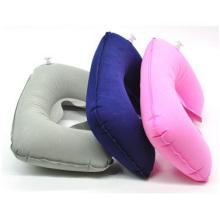 Oreiller gonflable de l'air de voyage U, oreiller en forme de U d'oreiller de cou de santé 42 G