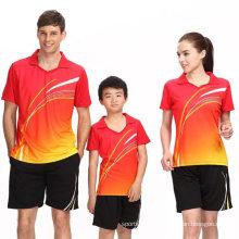 Китай Фабрика Детской Семейный Спортивный Бадминтон Джерси