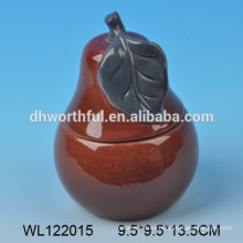 Hotsale condimento de cerámica en forma de pera, conjunto de vajilla