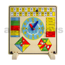 Wooden Educational Clock & Calendar (80086)
