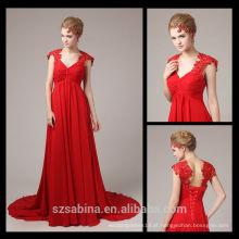 Vestido de noite vermelho 8099 Vestidos de noite elegantes de figura completa