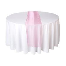 Corredor de mesa de organza rosa