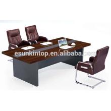 MDF moderna + mesa de escritório de conferência de acabamento de melamina