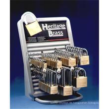 Einzigartiger kundenspezifischer Metallhaken-Arbeitsplatte-Hardware-Kleinspeicher-fördernder Verschluss und Schlüsselanzeige-Zahnstange