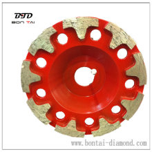 Diamond Tool with T Shape Surface Grinding Disc for Concrete and Masonry