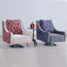 Metal Lounge Fabric Single Sofa Armchair Design