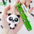 Customizd 3D Panda Silicone PVC suave llavero de metal