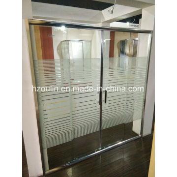 Puerta de la ducha con la línea de vidrio