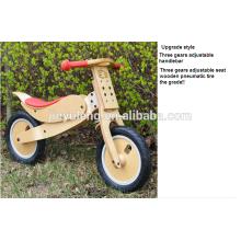 Rueda de madera de la bici del equilibrio del niño de 12 pulgadas