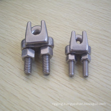 JIS Type Stainless Steel Ss304/Ss316 Malleable Wire Rope Cable Clamps