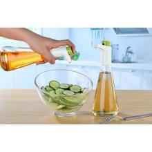 Dispensador / rociador de aceite y vinagre de medición de botella de vidrio de 310 ml