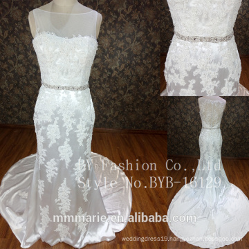 Best Selling pictures of latest gowns designs white lace 2017 bridal wedding dress