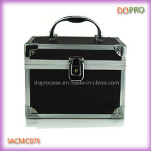 Симпатичные косметические органайзера случае черный ПВХ Макияж коробки (SACMC079)