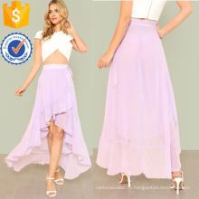 Узел боковой асимметричный Рябить юбка Производство Оптовая продажа женской одежды (TA3080S)