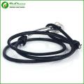 Прохладный Мужская браслет якорь из нержавеющей стали с черной веревкой якорь Браслеты