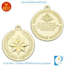Medalhas pessoais da lembrança do chapeamento de ouro do projeto 3D com selo liga de zinco
