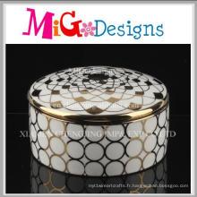 Boîte à bijoux de luxe en céramique de haute qualité