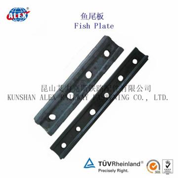 Plaque de poisson ferroviaire 4 et 6 trous pour raccordement en acier (UIC60)
