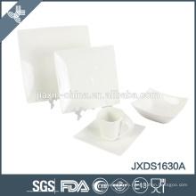 Наборы посуды из белого квадратного квадрата из фарфора