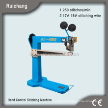 MJDX-3 Semi-automatic paperboard stitcher, electric stapler machine for carton