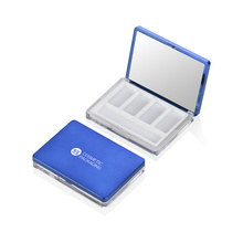 Popular Products Custom Eyeshadow Case Square Blue Plastic Eyeshadow Case In Stock