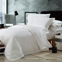 Satin Check Cotton Fabric Hotel Textile (WS-2016156)