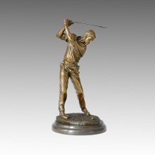Sports Statue Player Golf Bronze Sculpture, Milo TPE-025