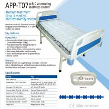 Matelas à air médical transparent TPU de haute classe avec compresseur ABC matelas pneumatique à air alternatif APP-T07
