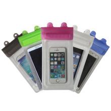 Nova caixa de telefone móvel à prova d'água com correia de pescoço em PVC (yky7253-1)