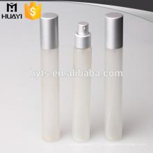 Vente chaude 35 ml verre dépoli pulvérisateur tube de parfum avec pulvérisation d'aluminium