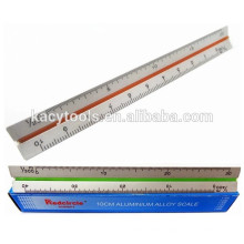 "15cm 6"" Triangular Aluminum Scale Ruler KC-61023"