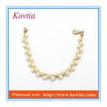 Дунгуань ювелирные изделия браслет жемчужина бисера посадки прелести браслеты золотые аксессуары женщин
