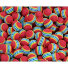 Rainbow Stripe FOAM Sponge Golf Balls Swing Practice Training Aids Ball