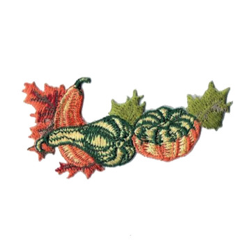 Thanksgiving Tumbuh Labu Gourds Daun Patch