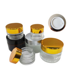 5~100ml Matte Black Glass Jars Cosmetic Cream with Gold Cap Essential Oil Bottle Glass Bottle Skincare Packaging