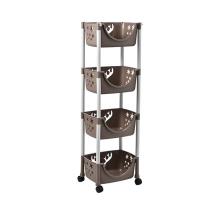 Estante de repisa con 4 cestas de almacenamiento y ruedas