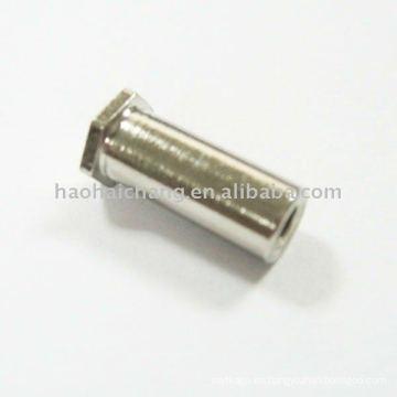 Tornillos y tuercas de anclaje de hexágono de acero chapado en níquel