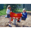 Two Sides Spring Playground Equipment For Children