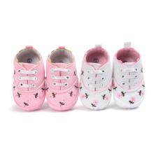 Розовый Цветок Первые Ходунки Детская Обувь Мягкой Подошвой Младенческой Малыша Мокасины